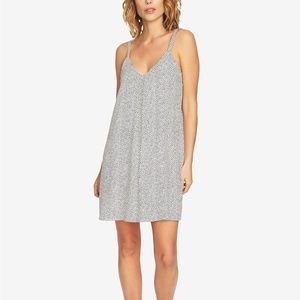 1. State Dresses - 1.State V-Neck Dotted Sleeveless Slip Dress XL